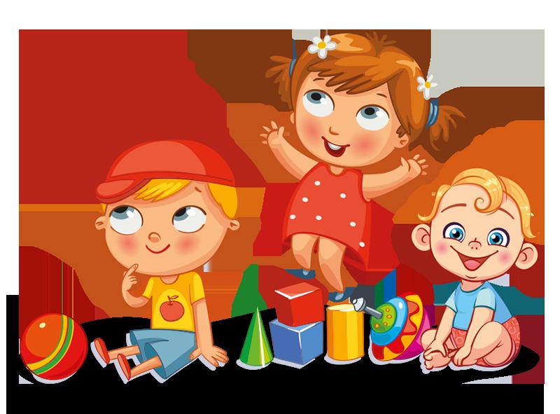 Enfants qui joue avec des jouets