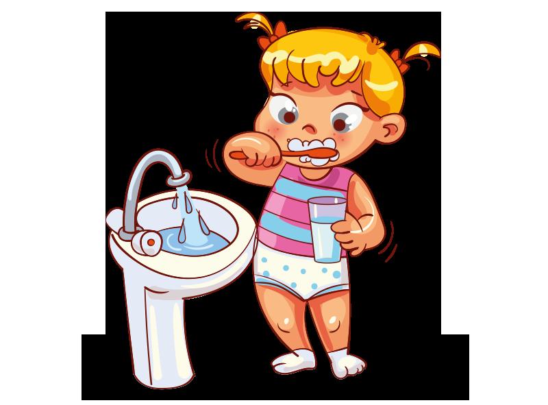 Le brossage des dents et le lavage des mains en font aussi partie.